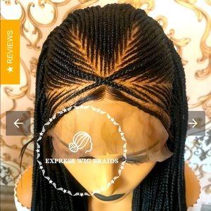 🆕 Express Wig Braids Cornrow Trinity Wig 1B/30